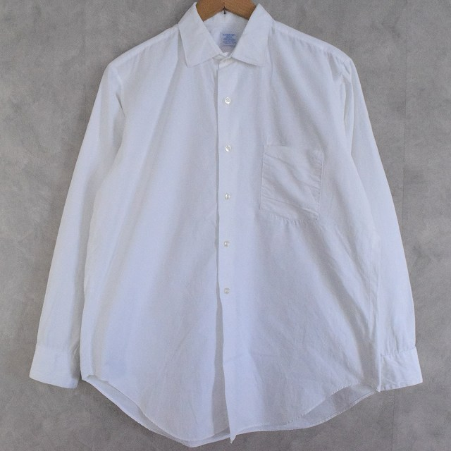 画像1: 60's ARROW USA製 White Cotton Shirts (1)