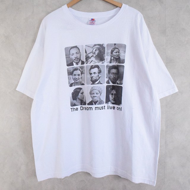 画像1: USA製 The dream must live on! 著名人フォトプリント T-shirt 2XL (1)