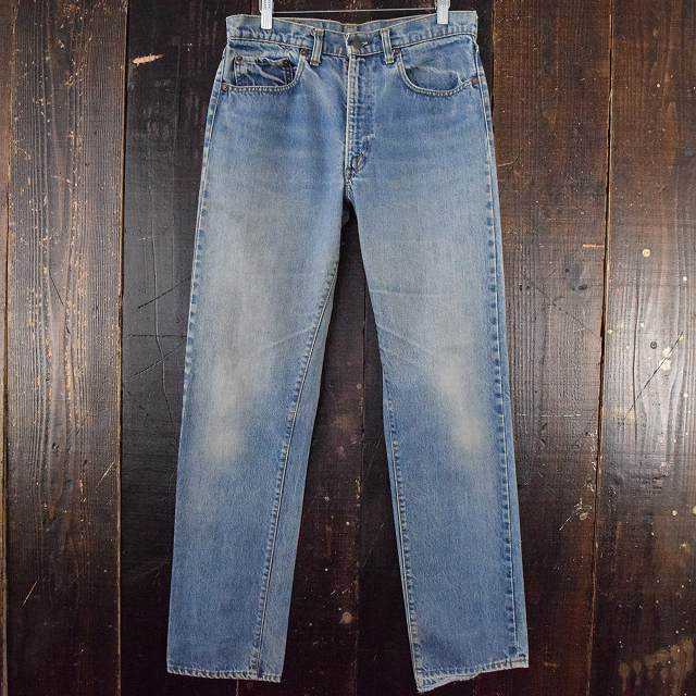 画像1: 80's Levi's 505-0217 ブランクタブ デニムパンツ W32 (1)