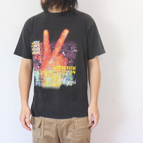 画像1: 90's WOODSTOCK ロックフェスティバルTシャツ (1)