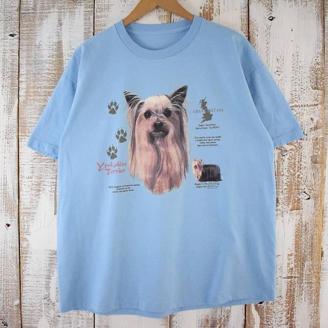 """画像1: 【価格を見直しました】 """"Yorkshire Terrier"""" 犬プリントTシャツ (1)"""