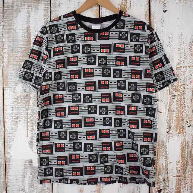 画像1: Nintendo コントローラープリント ゲームTシャツ M (1)