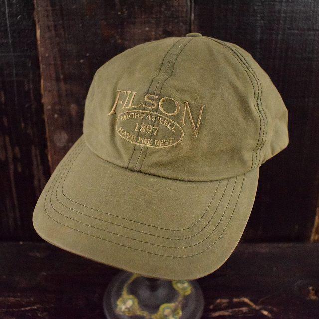 画像1: FILSON USA製 ロゴ刺繍オイルドキャップ L (1)