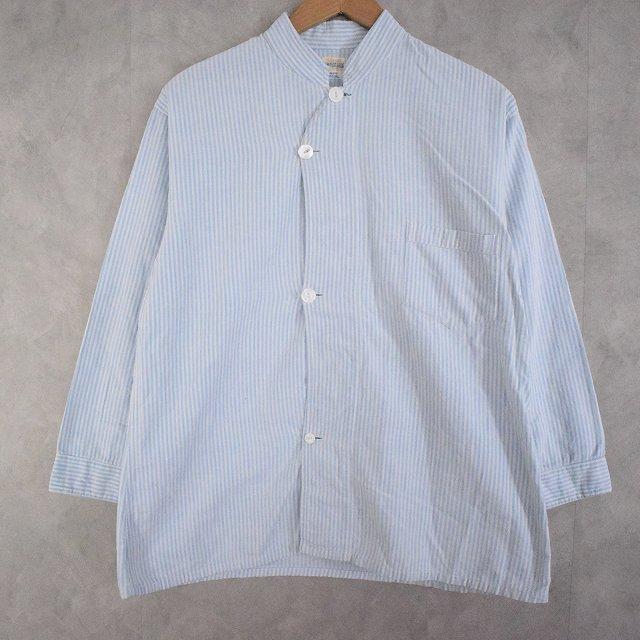 画像1: 30〜40's Glover's BRIGHTON CARLSBAD Stripe Cotton Pajamas Shirt (1)