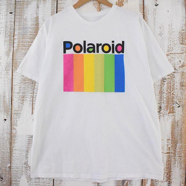 画像1: Polaroid カメラ会社 ロゴプリントTシャツ (1)