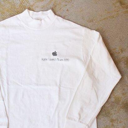"""画像1: 1999 Apple """"Apple Launch Team"""" モックネックロンT M (1)"""