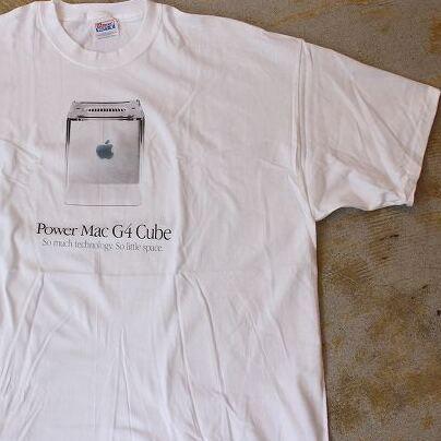 """画像1: 00's Apple Power Mac G4 Cube """"Think different."""" プリントTシャツ DEADSTOCK  XXL (1)"""
