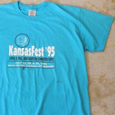 """画像1: 90's Apple """"Kansas Fest '95"""" Tシャツ XL (1)"""