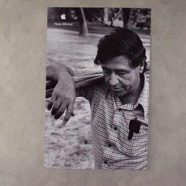 """画像1: 90's Apple Think different Poster """"Cesar Chavez"""" DEADSTOCK (1)"""