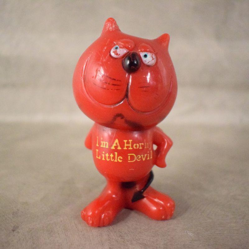 """画像1: 70's """"I'm A Horny Little Devil"""" レッドデビル メッセージドール (1)"""
