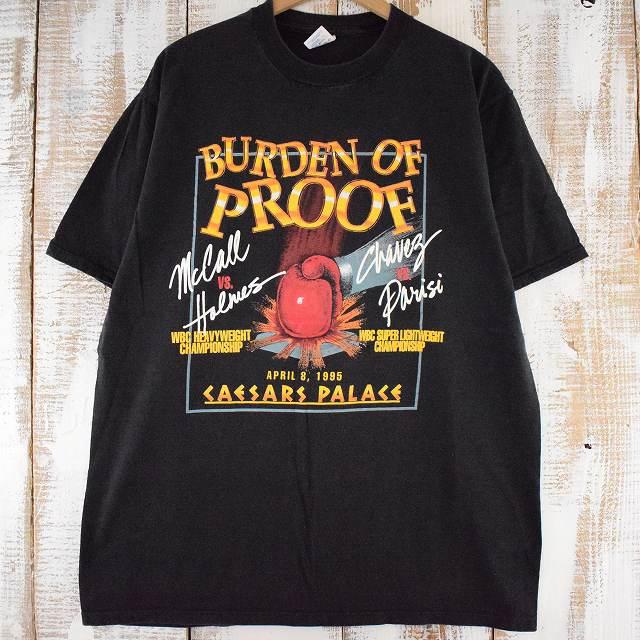 """画像1: 90's """"BURDEN OF PROOF"""" USA製 ボクシングTシャツ XL (1)"""