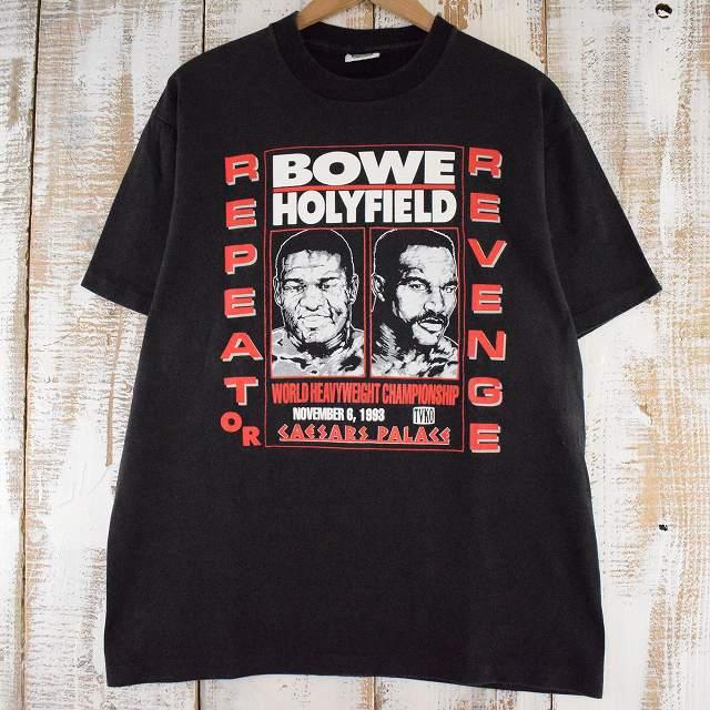 画像1: 90's BOWE vs Holyfield USA製 ボクシングTシャツ L (1)