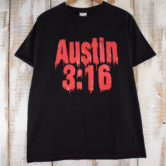 """画像1: """"Austin 3:16"""" Stone Cold Steve Austin プロレスTシャツ L (1)"""