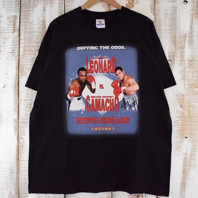 """画像1: 90's DEFYING THE ODDS """"LEONARD vs CAMACHO"""" USA製 ボクシングTシャツ XL (1)"""