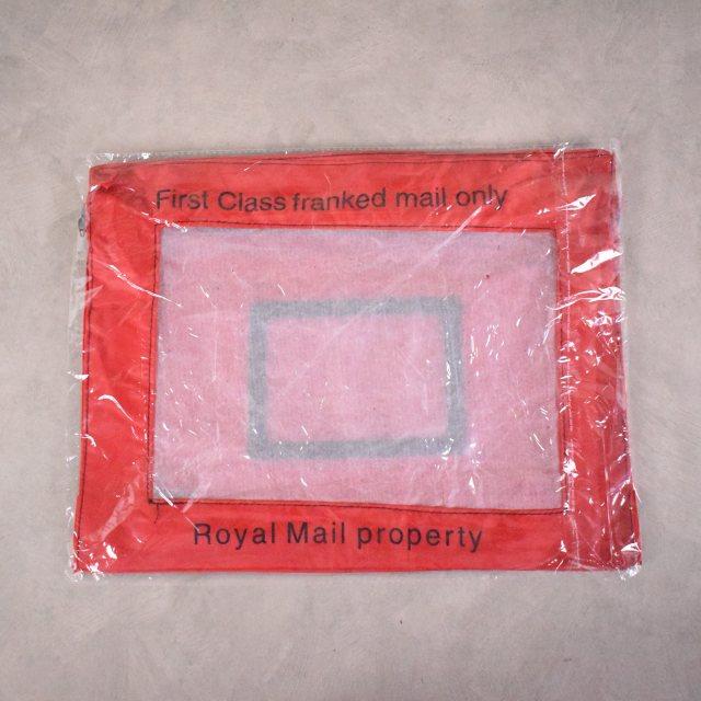 """画像1: Royal Mail letter bag DEAD STOCK? """"RED"""" DEADSTOCK 袋付き (1)"""