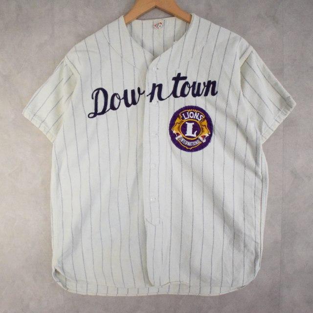 """画像1: 50〜60's Southern """"Downtown"""" Baseball Flannel Shirt M (1)"""