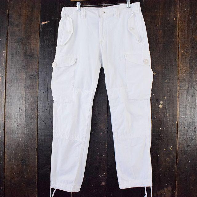 """画像1: POLO Ralph Lauren """"ROYAL NAVY TYPE"""" ホワイトカーゴパンツ W35-36 (1)"""