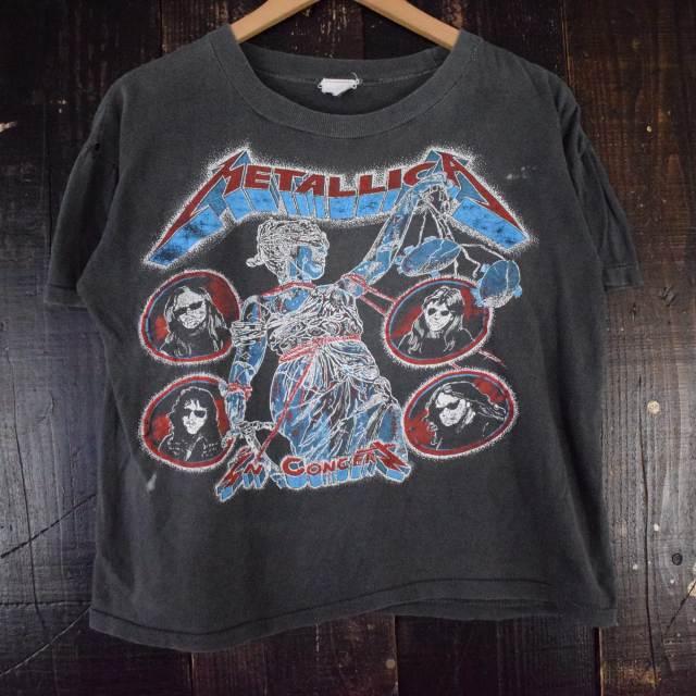 画像1: VINTAGE METALLICA パキ綿 へヴィメタルバンドTシャツ (1)