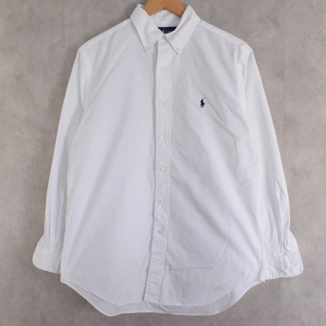 画像1: POLO Ralph Lauren white cotton shirt 15 1/2 (1)