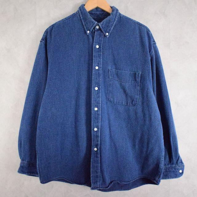 画像1: Eddie Bauer Cotton shirt L (1)