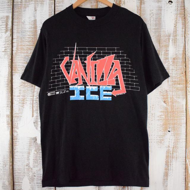 画像1: 90's VANILLA ICE USA製 ラッパー ツアーTシャツ L (1)
