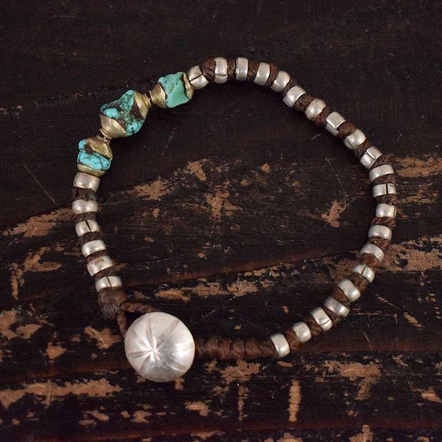 """画像1: RORAN """"Antique Turquoise×Old Silver"""" ブレスレット (1)"""