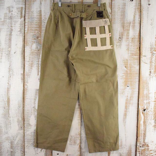 """画像1: KAPITAL """"Military type"""" HBT囚人パンツ W28 (1)"""