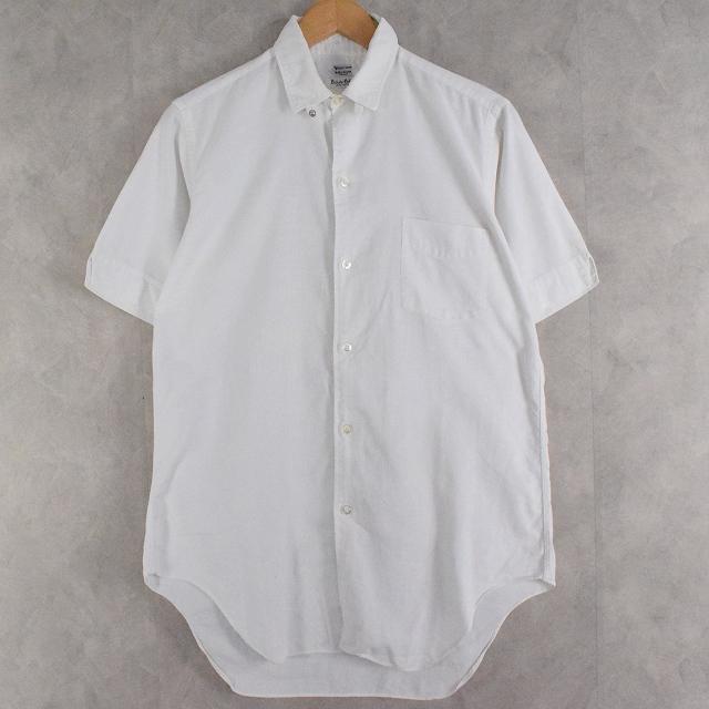 画像1: 50〜60's Varsity Shop タブカラー White cotton shirt 15 (1)