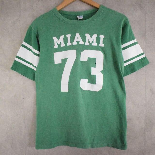 """画像1: 70's Champion USA製 バータグ """"MIAMI"""" カレッジT-shirt M (1)"""