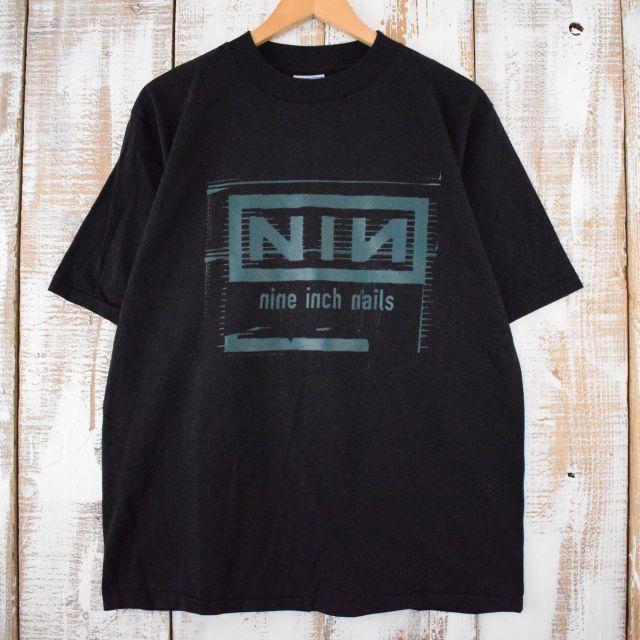 画像1: 90's nine inch nails USA製 インダストリアルロックバンドTシャツ L (1)