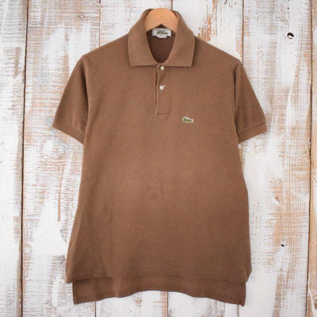 画像1: LACOSTE USA製 コットンポロシャツ  (1)