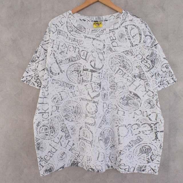 画像1: 90's DUCK HEAD USA製 手刷りプリントTシャツ XL (1)