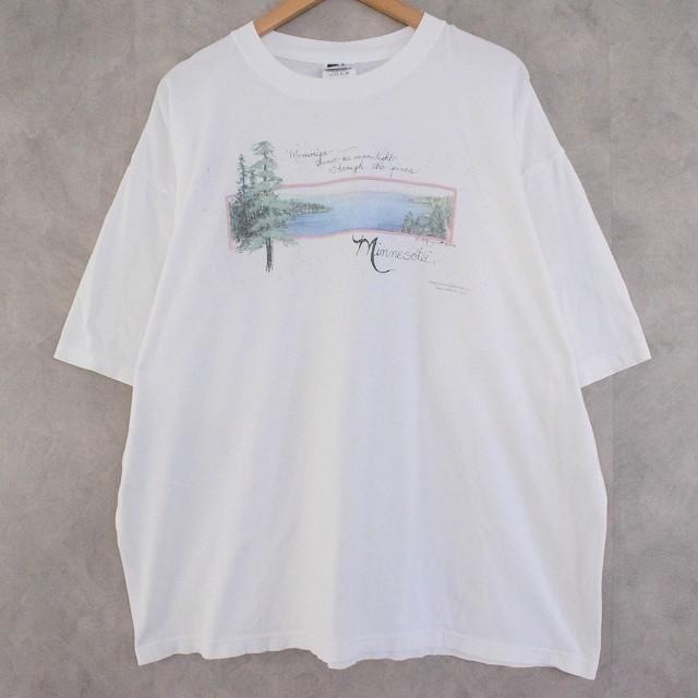 """画像1: 90's D.Morgan """"Minnesota"""" アートTシャツ XXL (1)"""