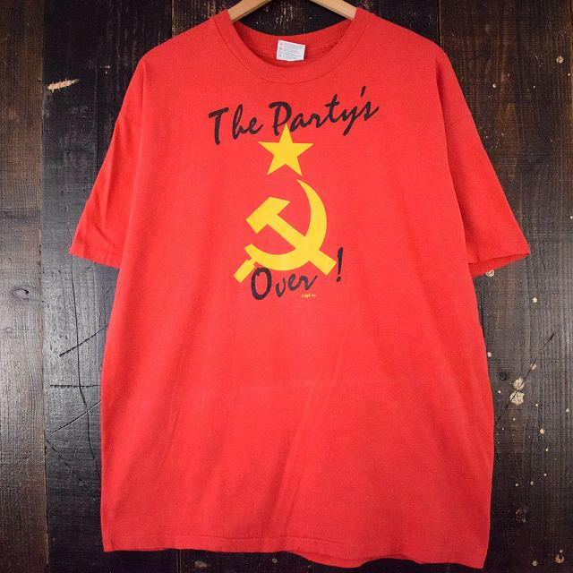 "画像1: 90's USA製 ""THE PARTY'S OVER"" Tシャツ XL (1)"