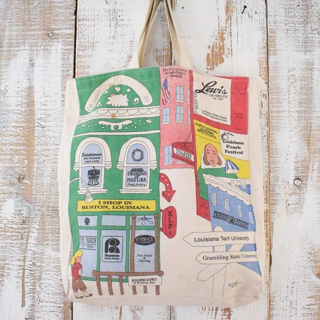 画像1: ストリートイラスト キャンバストートバッグ (1)