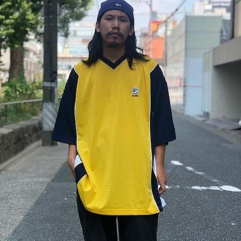 画像1: 90's FUBU 切り替えメッシュ ゲームシャツ XXL (1)