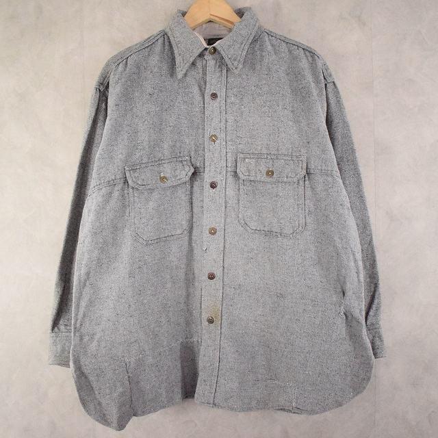 画像1: 40's MONTGOMERY WARD ウールワークシャツ (1)