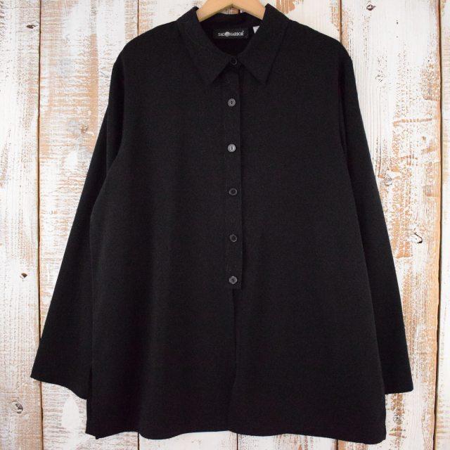 画像1: 【SALE】 SAG HARBOR 刺繍デザインポリシャツ (1)