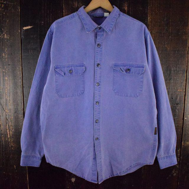 画像1: ▼【SALE】 90's Patagonia コットンカラーシャツ XL (1)