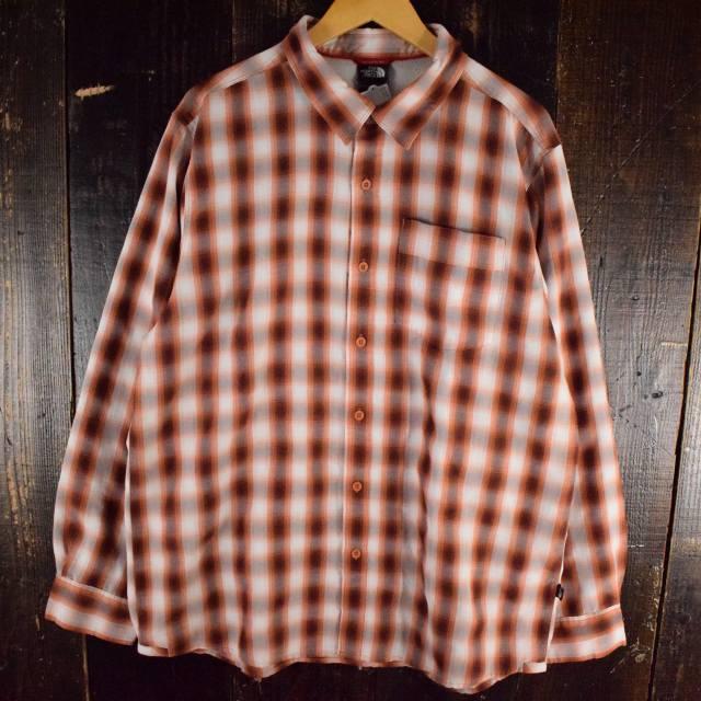 画像1: ● 【SALE】 THE NORTH FACE オンブレーチェック柄ポリシャツ XL (1)