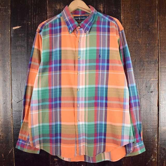 画像1: ▼【SALE】 POLO Ralph Lauren チェック柄 ライトネルシャツ XL (1)