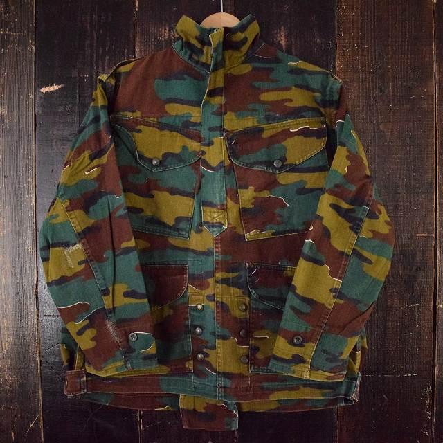 画像1: 【SALE】 80〜90's ベルギー軍 ジグソーカモ デニソンスモック (1)