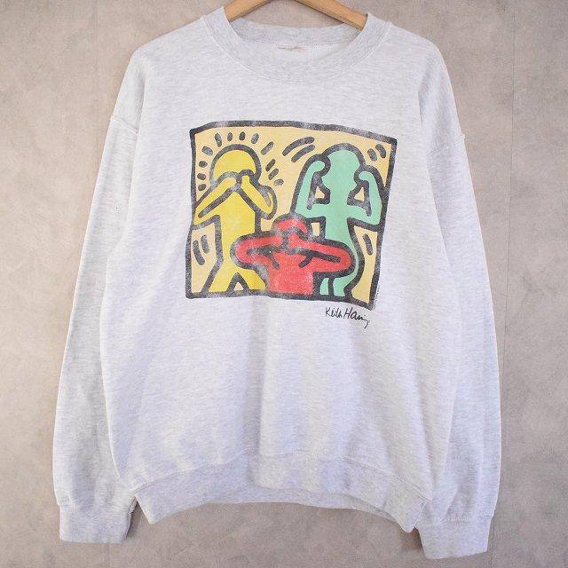 画像1: Keith Haring ポップアート プリントスウェット (1)