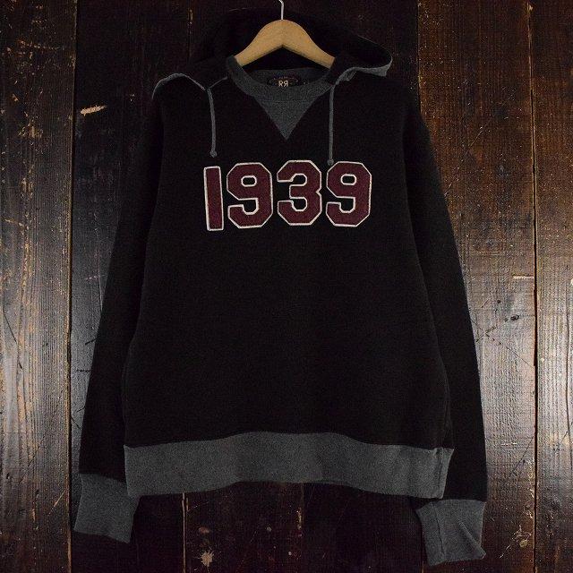 """画像1: Ralph Lauren RRL 三ツ星 """"1939"""" 後付けスウェットパーカ M (1)"""