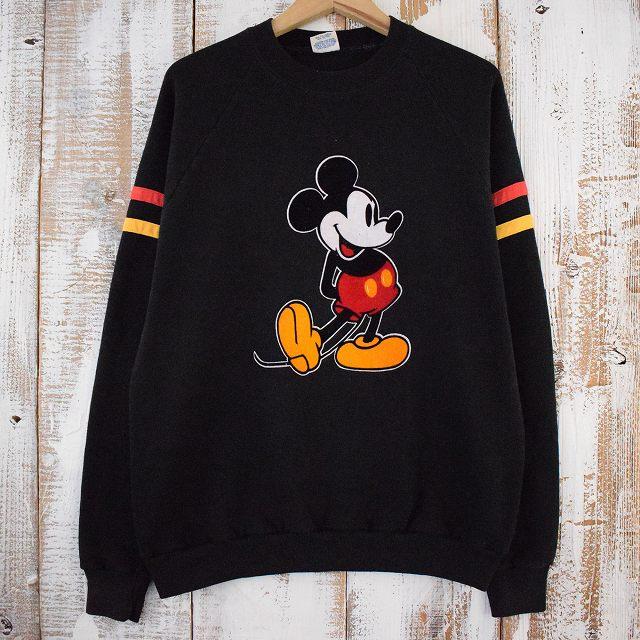 画像1: 80's Disney USA製 MICKEY MOUSE プリントスウェット XL (1)