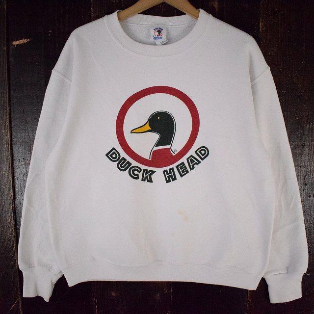 画像1: Duck Head USA製 プリントスウェット L (1)
