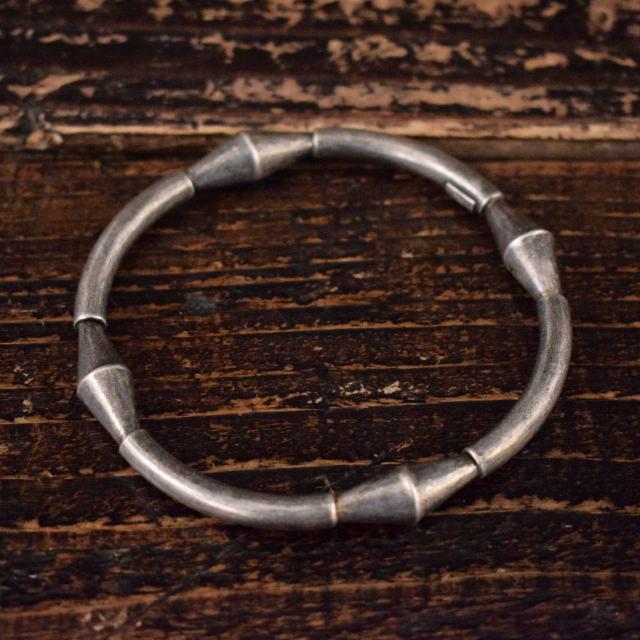 画像1: VINTAGE Mexican silver bangle (1)