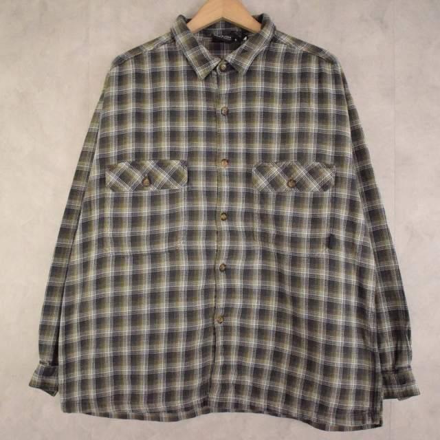 画像1: Patagonia チェック柄 コットンシャツ L (1)