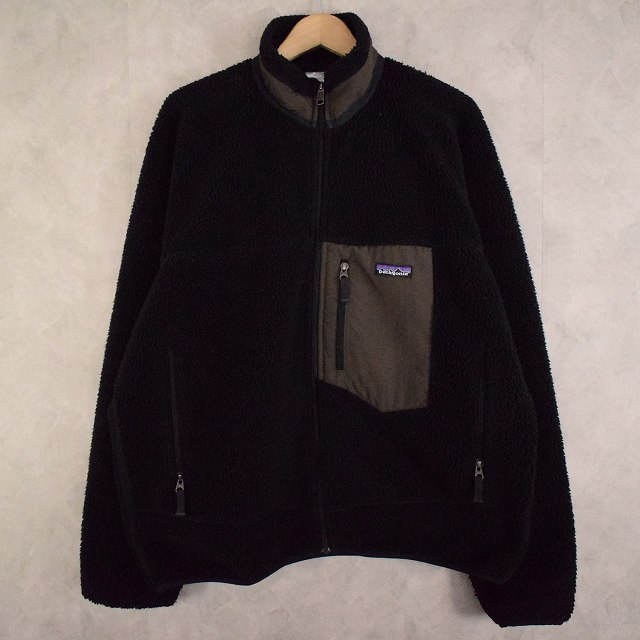 画像1: 90's Patagonia クラシックレトロXジャケット BLACK L (1)