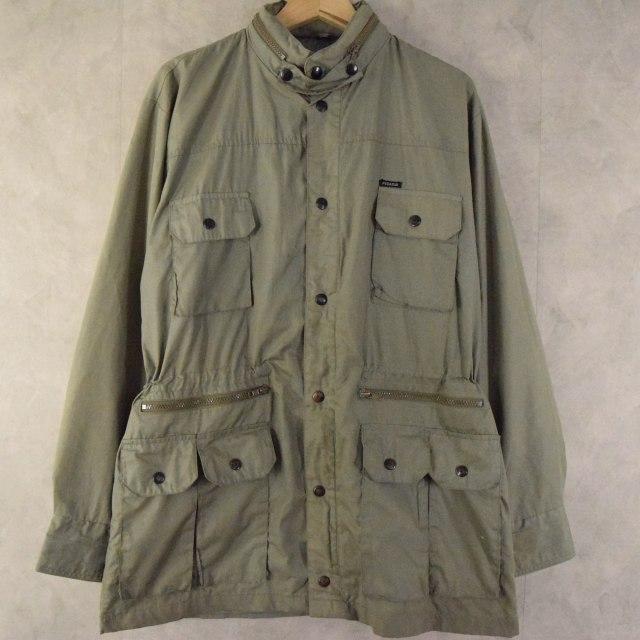 画像1: 【SALE】 80's〜 Pegasus ポケットデザイン ポリコットンワークジャケット L (1)